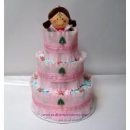 Торта от памперси Принцеса