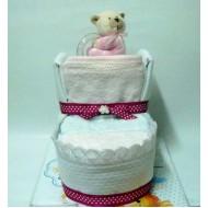 Торта от памперси Пантофка