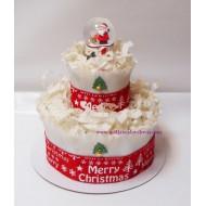 Торта от памперси Дядо Коледа
