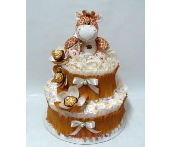Торта от памперси Жираф