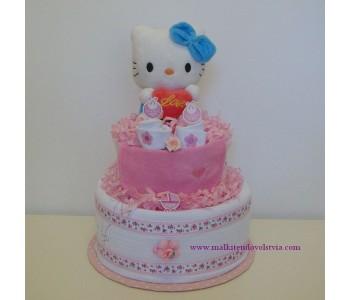 Торта от памперси Кити