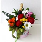 Букет от цветя и шампанско Опиянение