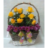 Кошница с цветя Рожден ден