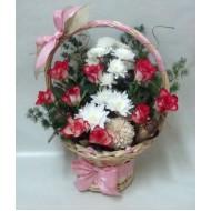 Кошница с цветя Розова градина