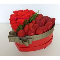 Подаръчна кутия Влюбено сърце