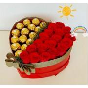 Подаръчна кутия Влюбени бонбони