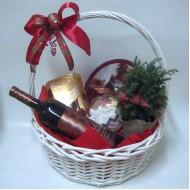 Подаръчна кошница Бяла зима