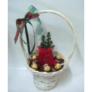 Подаръчна кошница Коледно Фереро