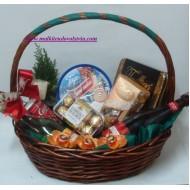 Подаръчна кошница Бяло и червено